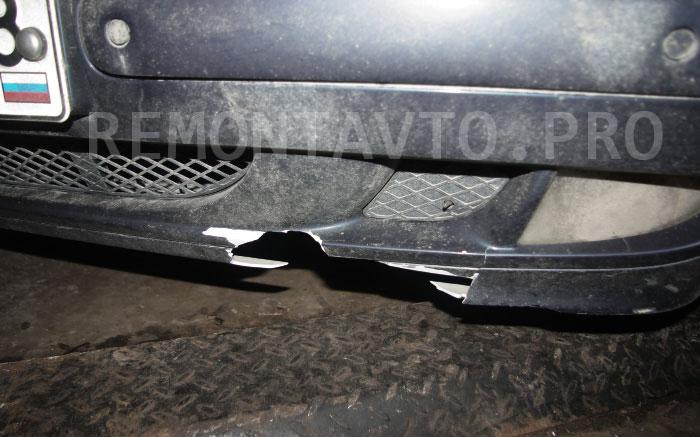 Бампер Мерседес w210 рестайлинг до ремонта и покраски