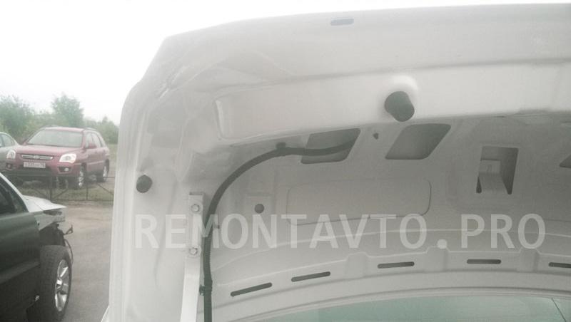 Кузовной ремонт и покраска крышки багажника Шевроле Кобальт