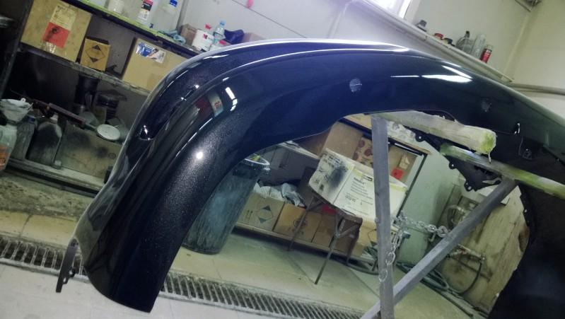 Покраска нижней кромки бампера автомобиля Toyota Verso